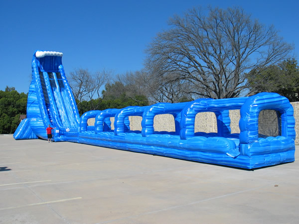 36 Foot Blue Crush Dual Lane Water Slide