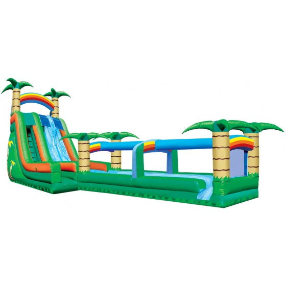 Tropical Dual Lane Slip & Water Slide Combo