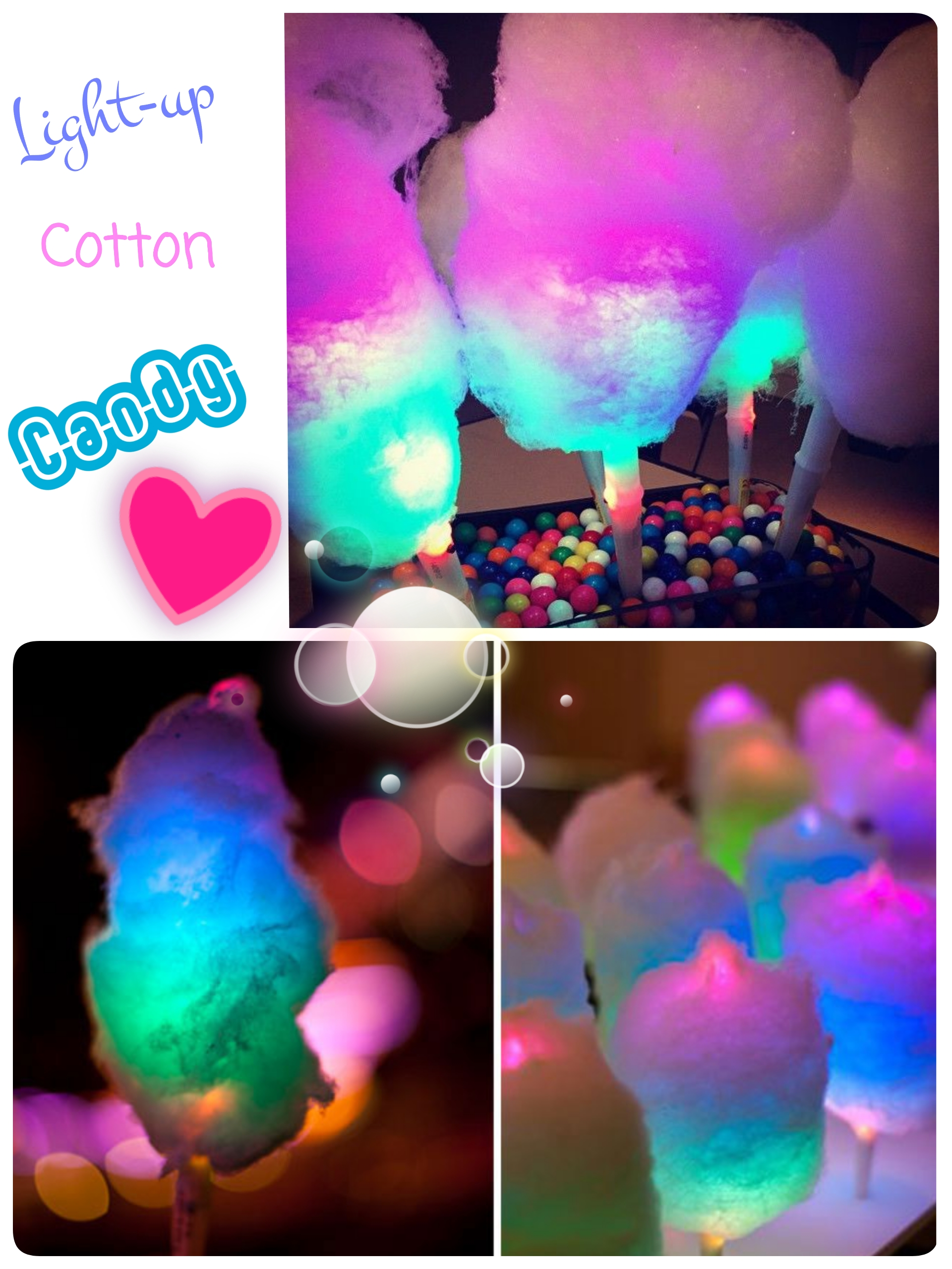Cotton Candy Light Up