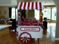 Candy Cart Red Striped