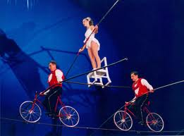 High wire bike act